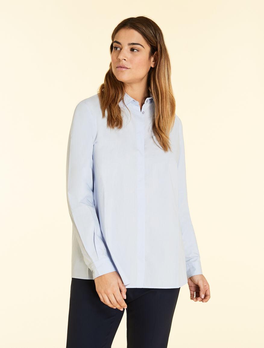 d89a28b1093136 Cotton poplin blouse, ski blue -
