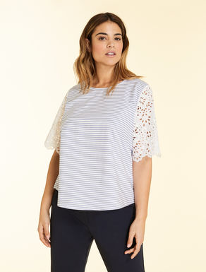 Poplin and Sangallo lace tunic