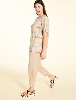Pantaloni in lino tencel