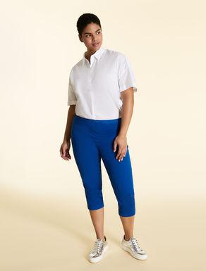 Pantalon en gabardine de coton stretch