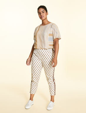 Stretch-cotton gabardine trousers