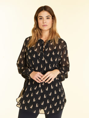 Printed georgette tunic