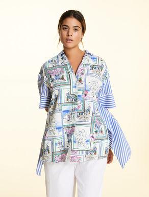 Printed poplin shirt