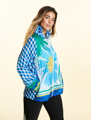 Printed water-repellent jacket