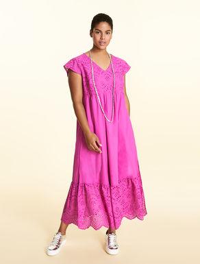 Vestido largo de popelina de algodón
