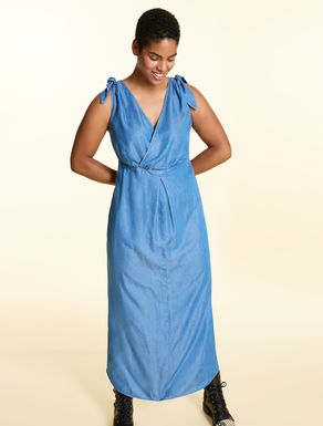 Tencel-denim long dress