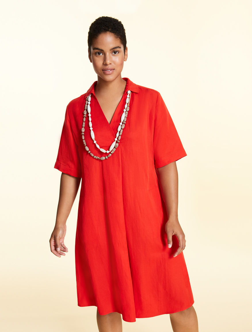 Dress in tencel-linen blend