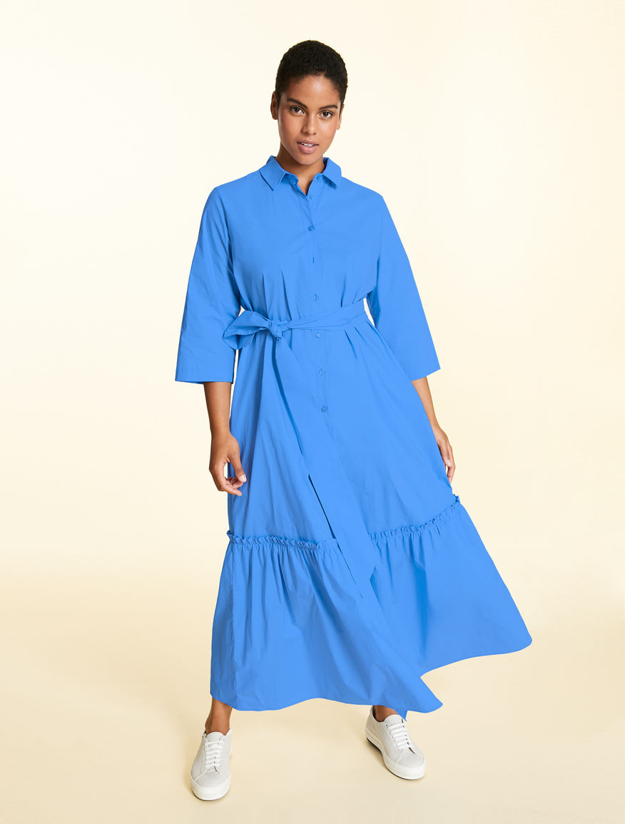 Dress in soft cotton poplin