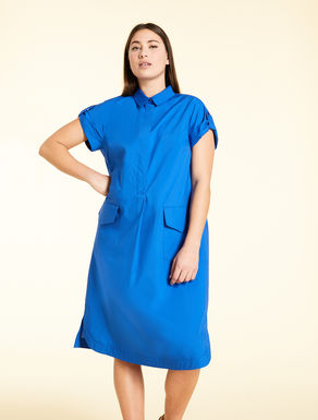 Shirt dress in cotton poplin