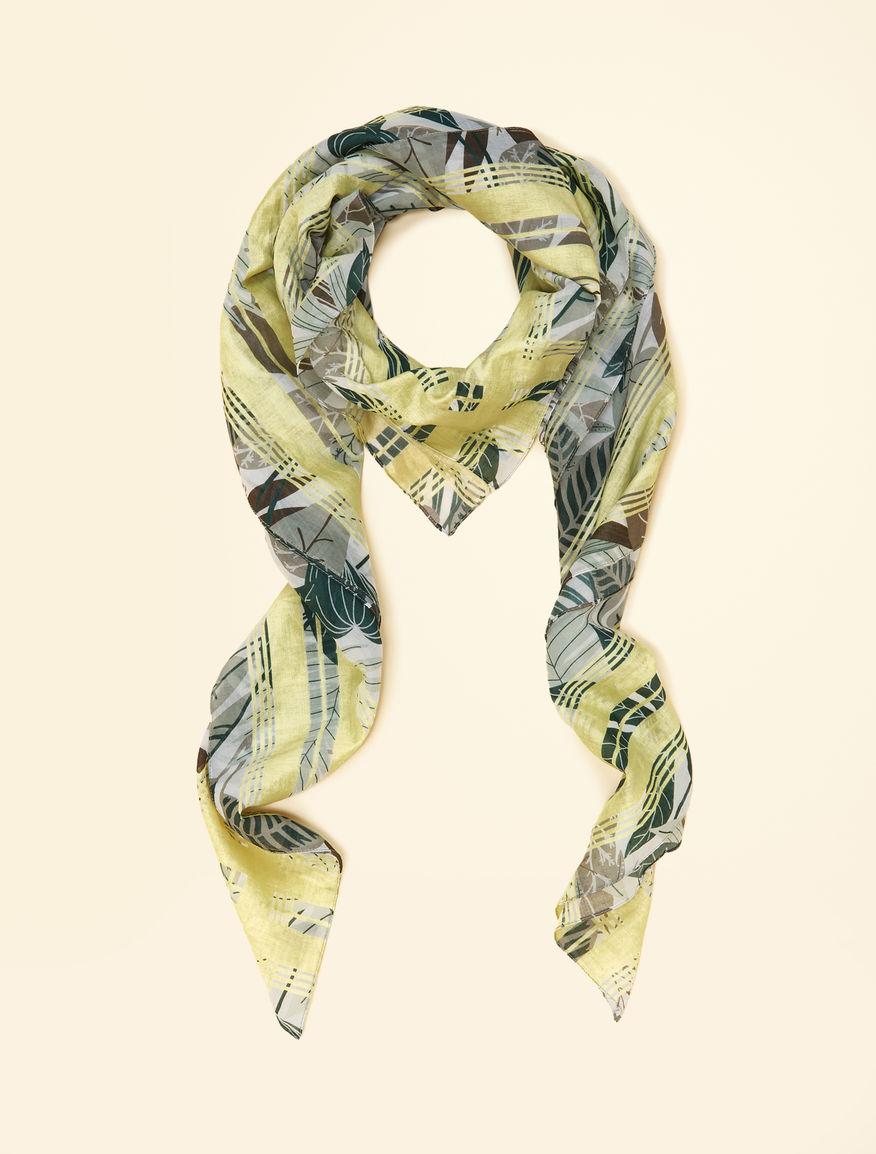 Foulard en coton, jaune -