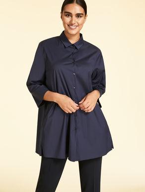 EASY Camicia lunga in popeline di cotone