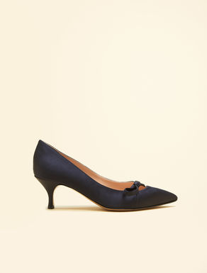 Satin court shoes