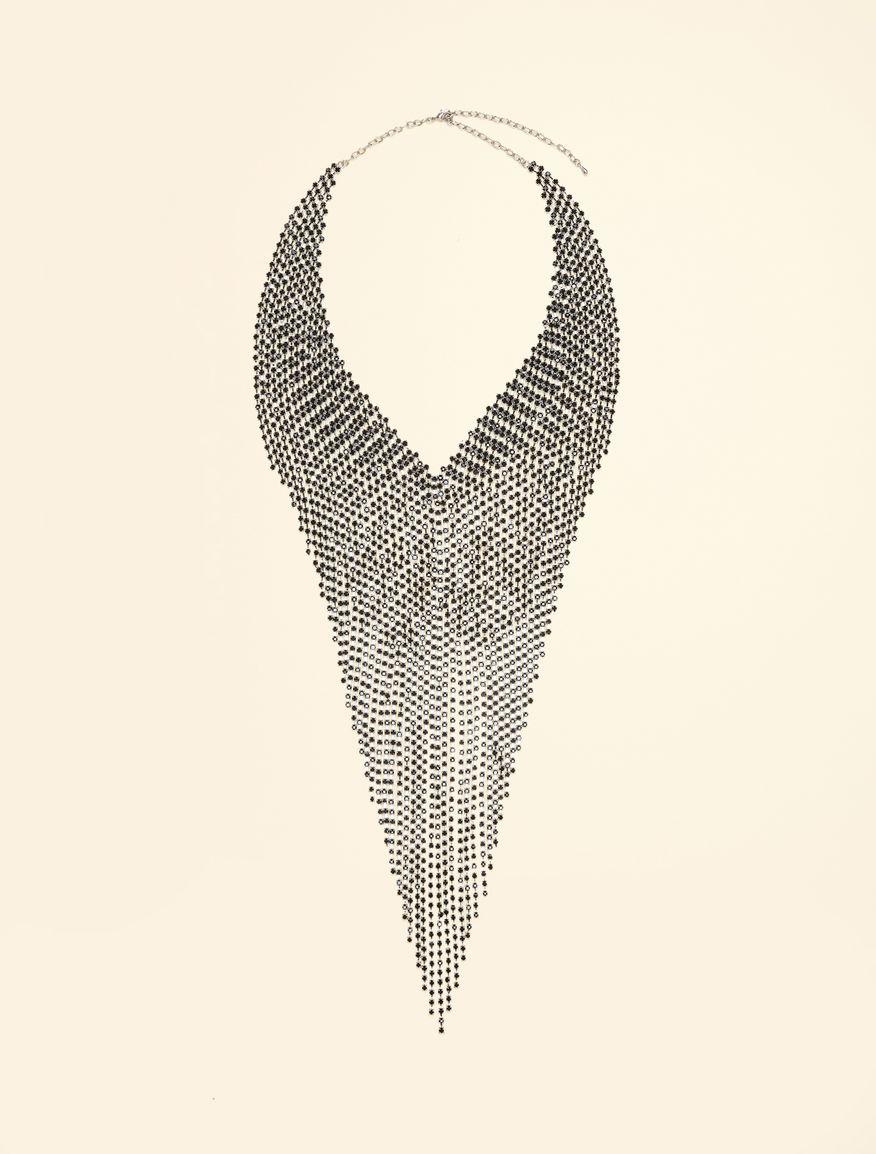 Rhinestone pave necklace