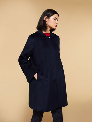 Coat in pure wool broadcloth