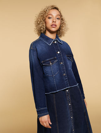Giacca in denim stretch