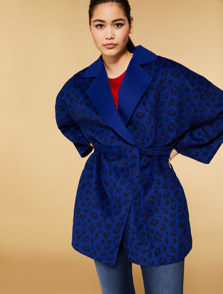 Coat in double-faced wool blend