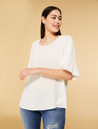 Textured fabric tunic