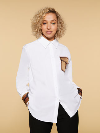 Cotton poplin blouse