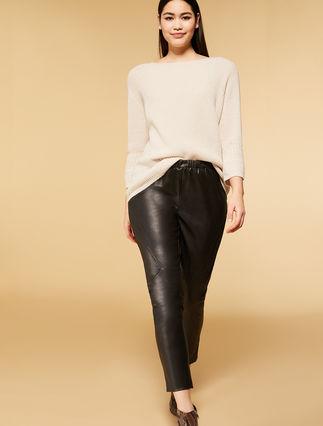 Pantaloni effetto spalmato