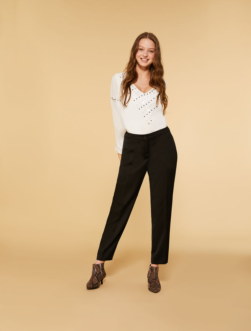Pantalon en envers satin
