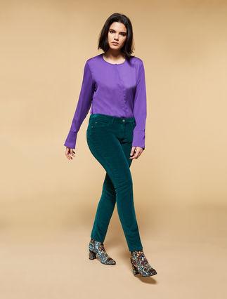 Shaping velvet jeans
