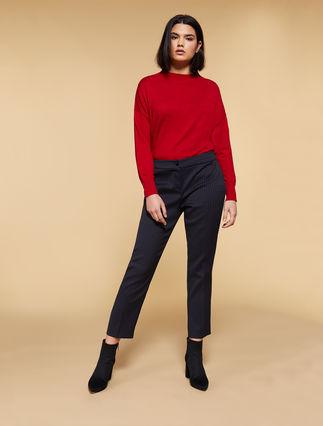 Stretch jacquard trousers