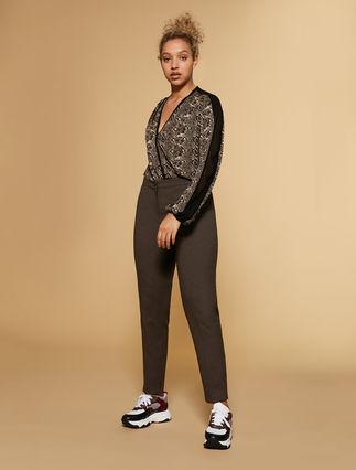 Pantaloni in flanella stretch