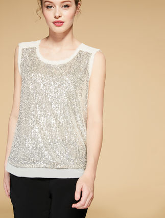 Tulle top with sequins