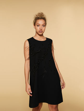Flowing crêpe dress