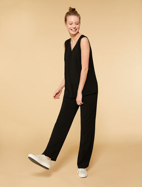 Fluid fabric jumpsuit