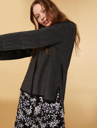 Wool and lurex blend cardigan