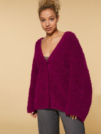 Mixed mohair cardigan