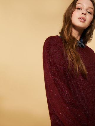 Mohair sweater with sequins