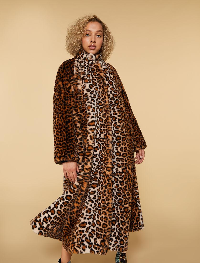 Manteau aspect fourrure