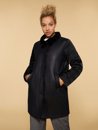 Sheep wool effect coat