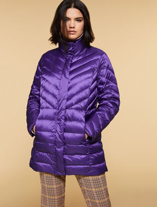 Nylon mother of pearl down jacket