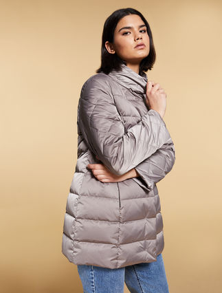 Satin down jacket