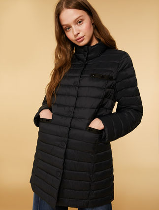 Opaque nylon down jacket