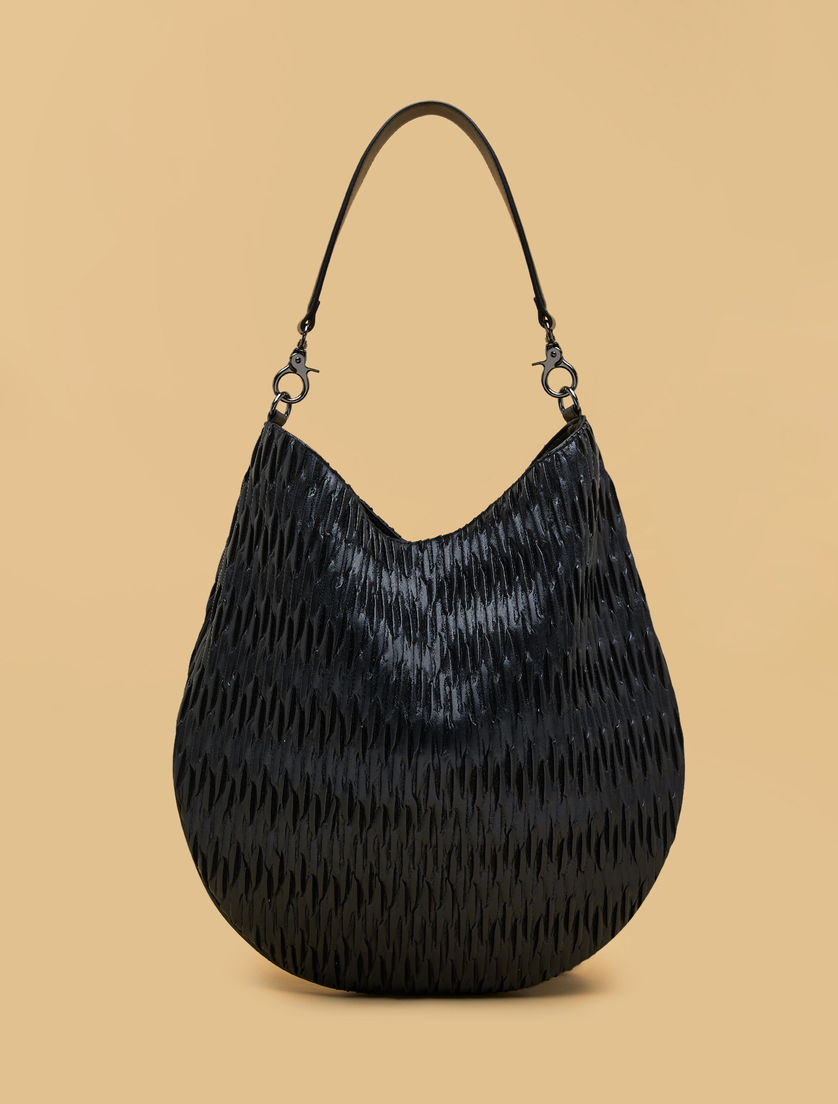 Coated effect hobo bag