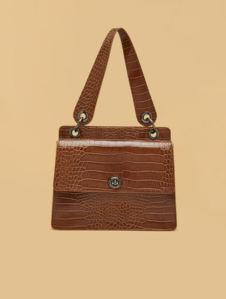 Crocodile print bag
