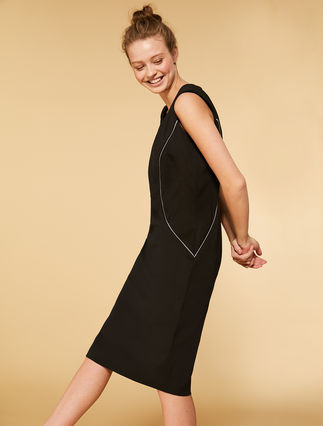 Stretch scuba fabric dress