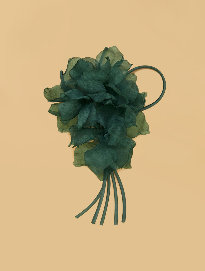 Silk organza brooch