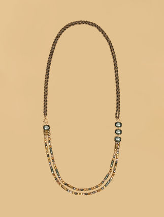 Rhinestone chain necklace