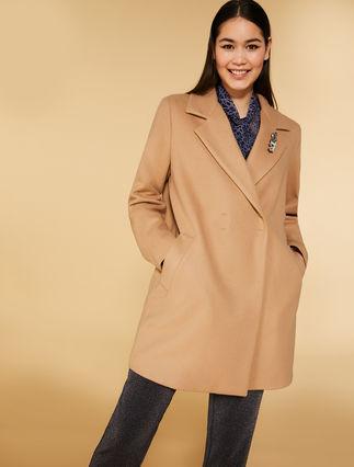 Manteau en tissu jersey