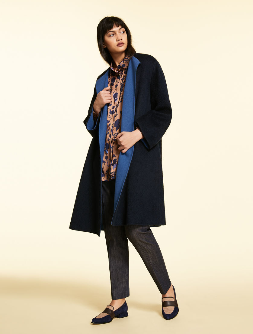 Double wool and cashmere coat