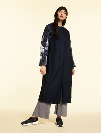 Manteau en feutre de laine