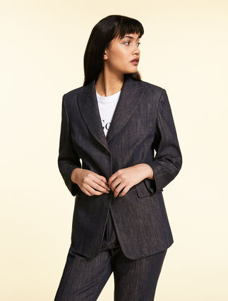 Blazer in cotton twill