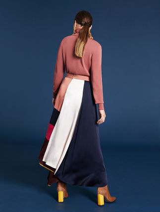 Colour block skirt