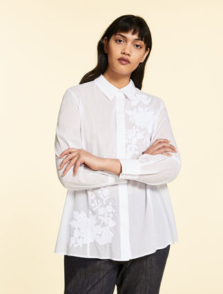 Muslin shirt with embroidery