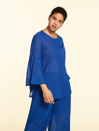 Wool gauze shirt
